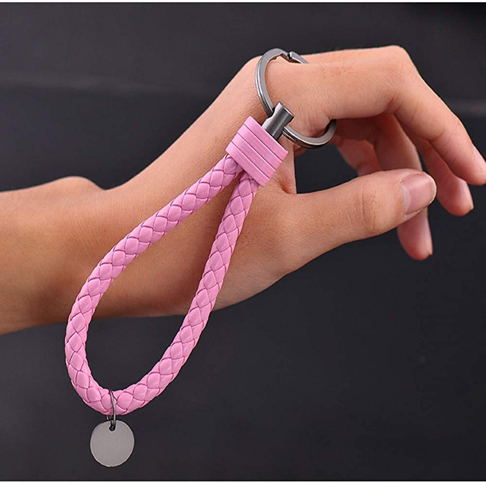 Car Key Acorn Weave Paracode Key Chain Ring Grip Strap Braided Rope Keychain for any Car Black