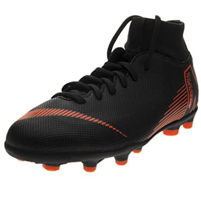 online store eabf3 da423 Nike Kids' Mercurial Superfly 6 Club MG Soccer Cleats (3, Black/Orange)