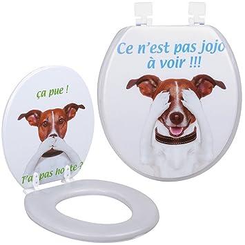 Promobo Abattant De Toilettes Wc Design Humour Fun Chien C Est Pas Jojo Honte