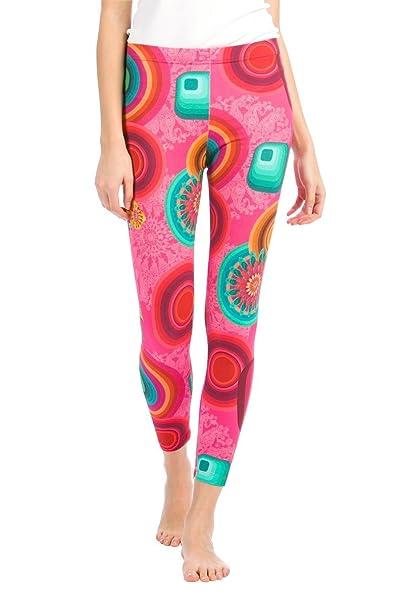 Desigual Legging Lollipop - Legging de Mujer, 95% Algodón 5% Elastán, Estilo