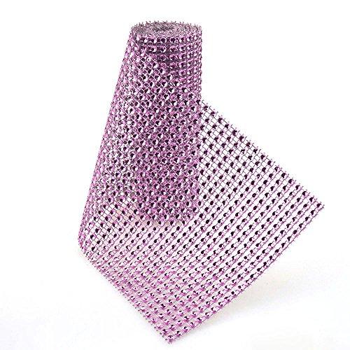 Lavender Rhinestone - Homeford FQJ00000A692LAVE_1YD Rhinestone Mesh Wrap Roll, 36