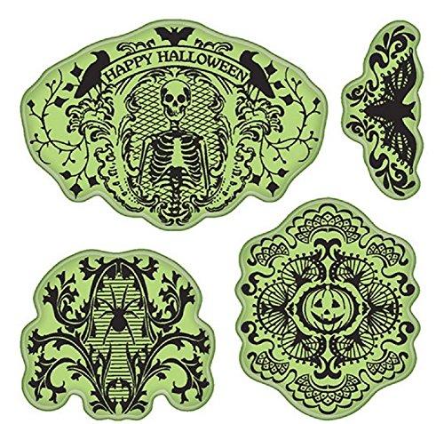 Inkadinkado Stamping Gear Cling Stamps, Halloween -