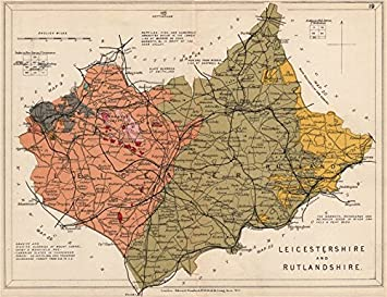 Leicestershire Uk Map.Leicestershire And Rutlandshire Geological Map Stanford 1913