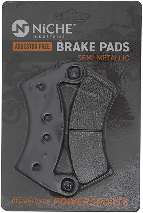 Niche Front Left /& Right Semi-Metallic Brake Pads Set for Polaris Ranger XP 1000 2018