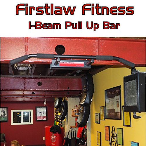Firstlaw Fitness - 600 LBS Weight Limit - I-Beam Pull Up Bar - Long Bar with Bent Ends WITH Pull Up Assist - Durable Rubber Grips - Black Label - Made in the USA! by Firstlaw Fitness (Image #5)