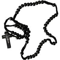 Rosary Beads   Catholic   for Men, Women, Kids   Black   Wooden