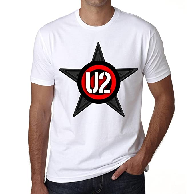One in the City U2 Group Tour - Camiseta para Hombre - Color Blanco, Camiseta para Hombre, Regalo: Amazon.es: Ropa y accesorios