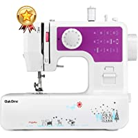 oakome Household Sewing Machine Multifunction - 12 Built-in Stitches and Patterns, Strong Horsepower, Perfect for All Sewing Jobs, Great for Beginners and Convenient for The Experienced (Purple)