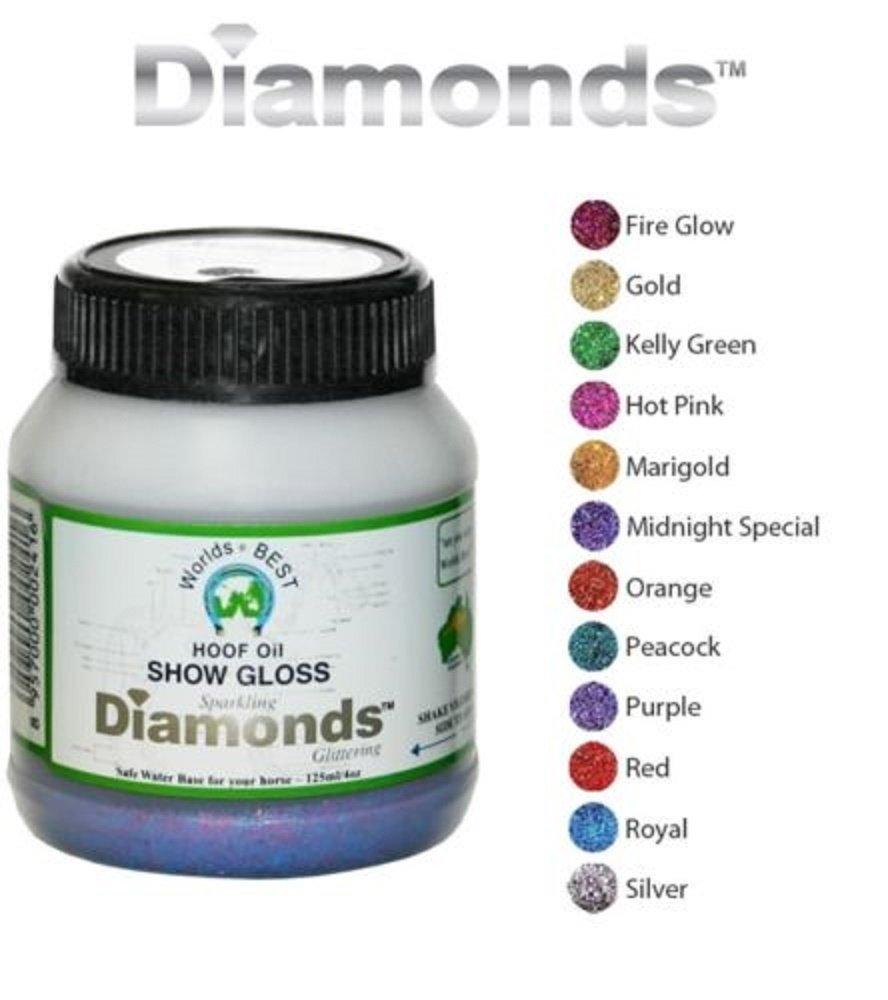 Worlds Best Diamonds Horse Hi Gloss Glitter Dog Nails Hoof Show Polish Fast Dry (Red) by Worlds Best Hoof Oil