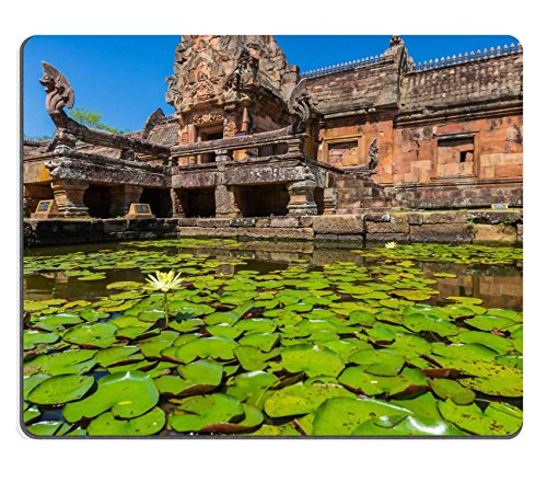 MSD Natural Rubber Mousepad sand stone castle phanomrung in Buriram province Thailand Religious buildings IMAGE 19869085 Stain Resistance Kit Kitchen Table Top Desk Collecto