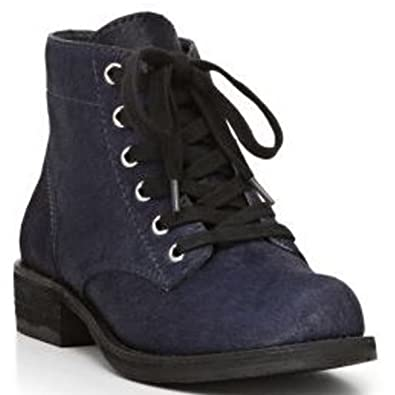 7dc4213c91890 Sam Edelman Women s Bleecker Combat Boots Fur Haircalf Ink Navy (6.5 ...