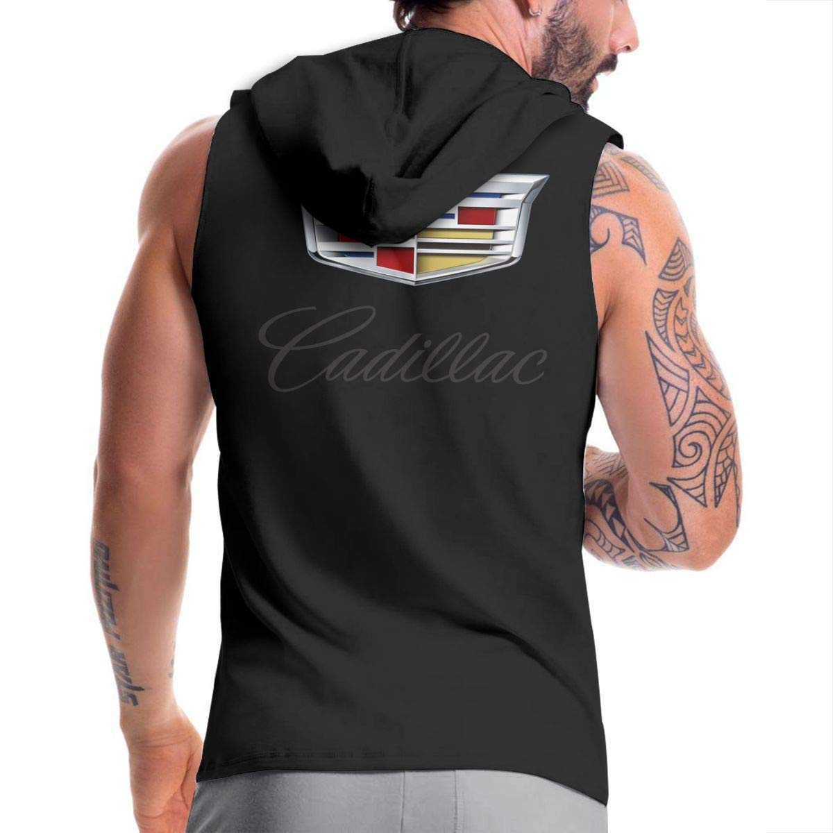 SHENGN Man Custom Casual with Hood Bag Cadillac 2014 Colorful Logo Zipper Sweater