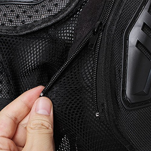 Motorcycle Racing Enduro Body Armor Spine Chest Protective Gear Motocross Accessories Safety Protector Sport Jacket Black Size XXXL Fit For Vespa ET2 ET4 Limited by SKY (Image #6)
