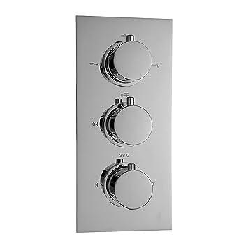 Hervorragend ENKI Unterputz-Duscharmatur mit Thermostat - Rundes Design - 3  KA04