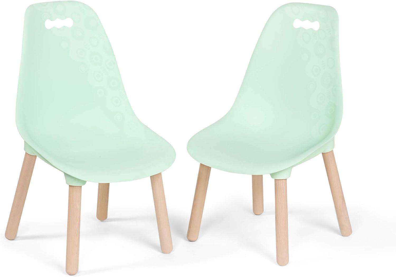 2 Unidades toys by Battat BX1634Z B Color Verde Menta Juego de sillas