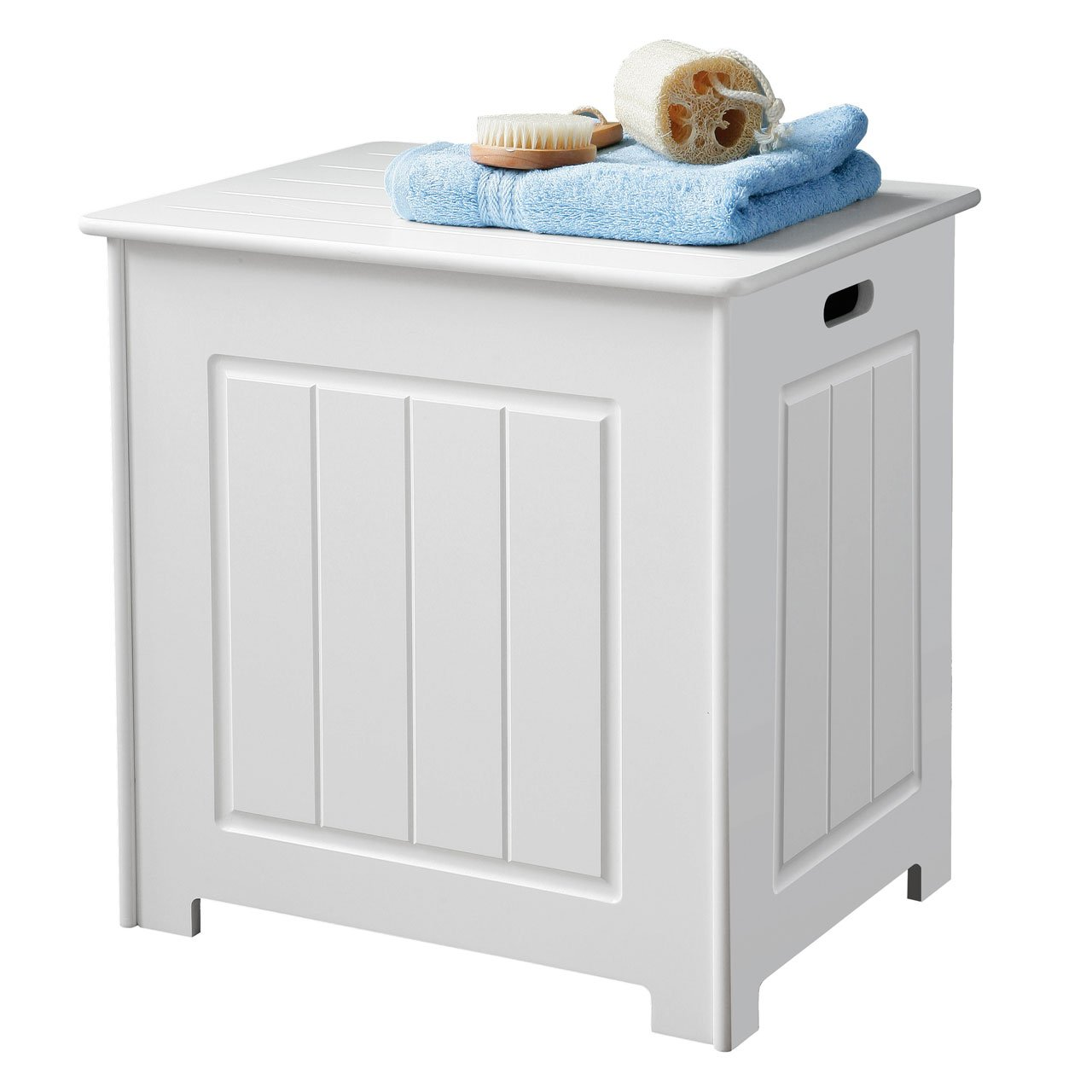 part cabinet hamper wooden laundry linen with white pin