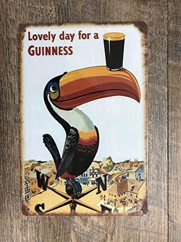 - Unzip Your Mind Lovely Day for Guinness Metal TIN Sign 12 X 8