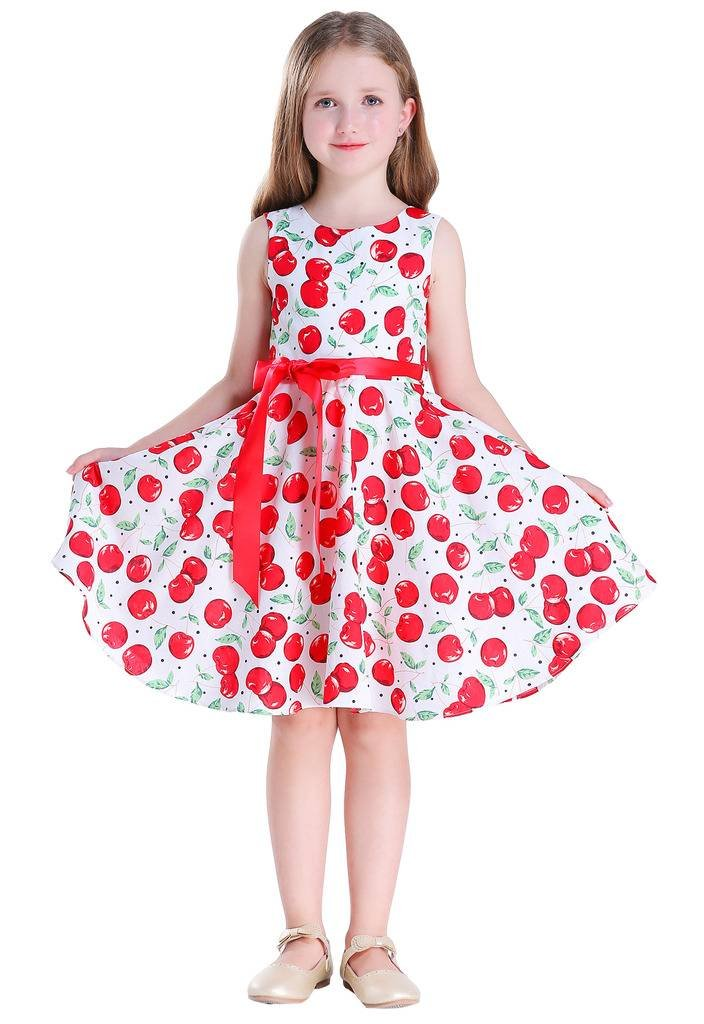 Happy Rose Girl Dress Vintage Cotton Cherry 6