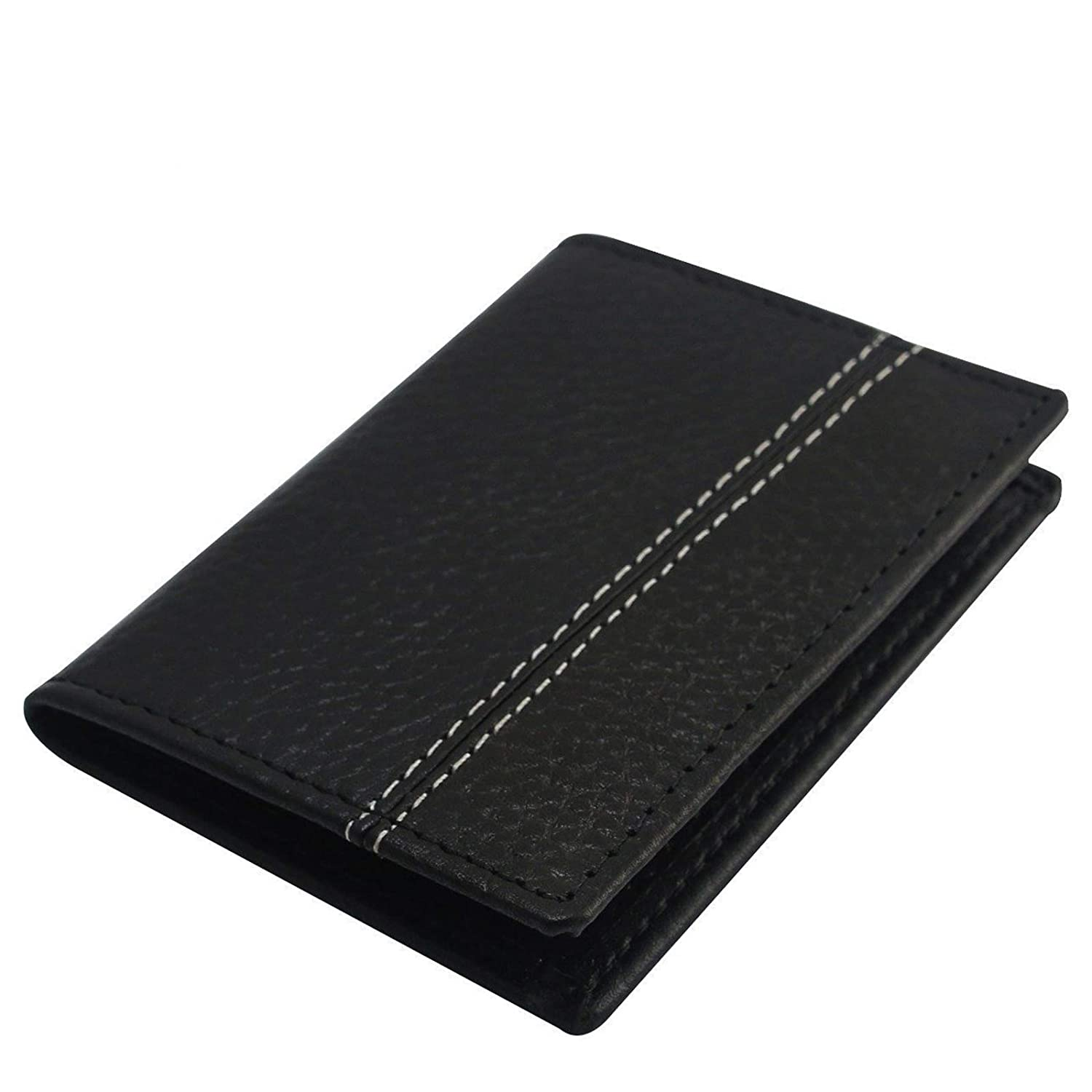 sports shoes d363a 3cd66 Men's RFID Blocking Real Leather Black Credit Card Holder, ID Holder,Slim  Wallet,Card Case (Black)