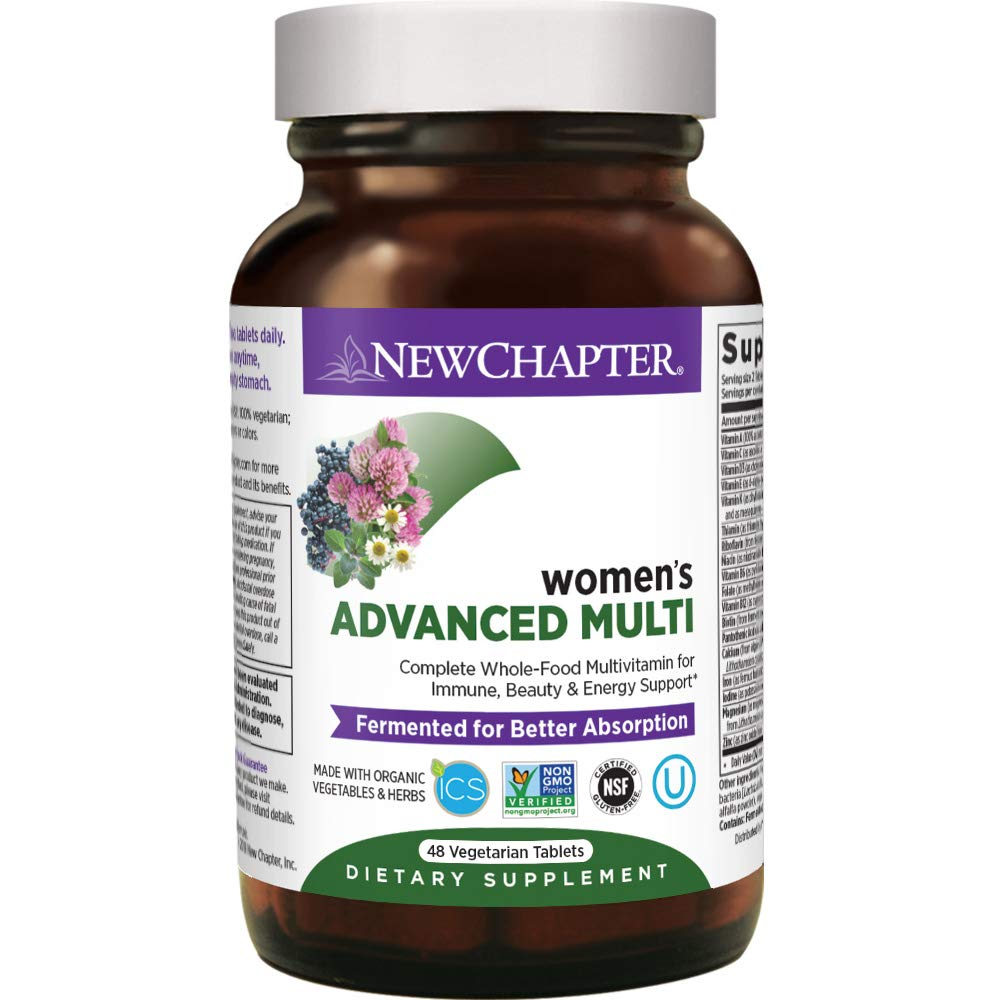 New Chapter Women's Multivitamin, Every Woman, Advanced Women's Multi, Fermented with Probiotics + Iron + Vitamin D3 + B Vitamins + Organic Non-GMO Ingredients - 48 ct (Packaging May Vary)