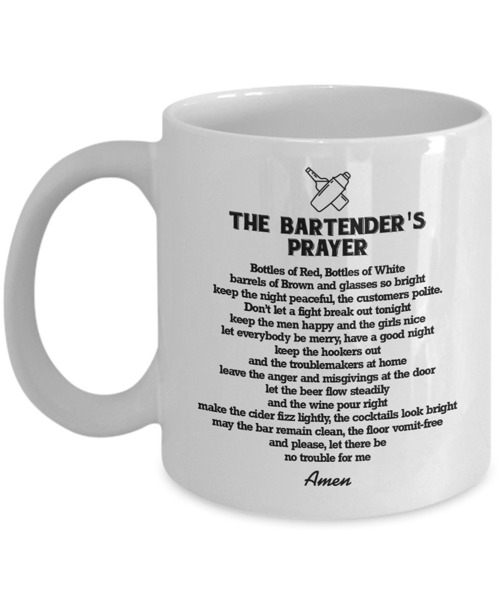 Amazon.com: A Bartender\'s Prayer Mug, 11 oz - Unique Gifts By ...