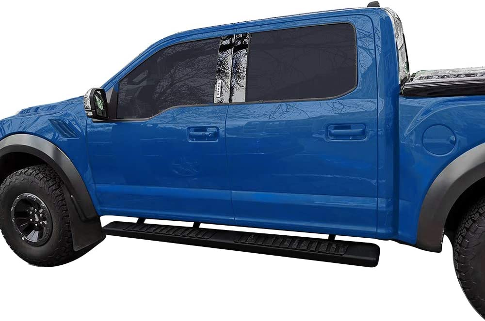 Compatible for 2015-2020 Ford F-150 SuperCrew Cab Pickup 4-Door /& 2017-2020 Ford F-250 YITAMOTOR 6 inch Running Boards F-350 Super Duty Crew Cab with Black Textured Aluminum Side Steps Nerf Bars