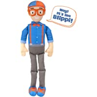 """Blippi Bendable Plush Doll, 16"""" Tall Featuring SFX - Squeeze The Belly to Hear Classic catchphrases - Fun, Educational…"""