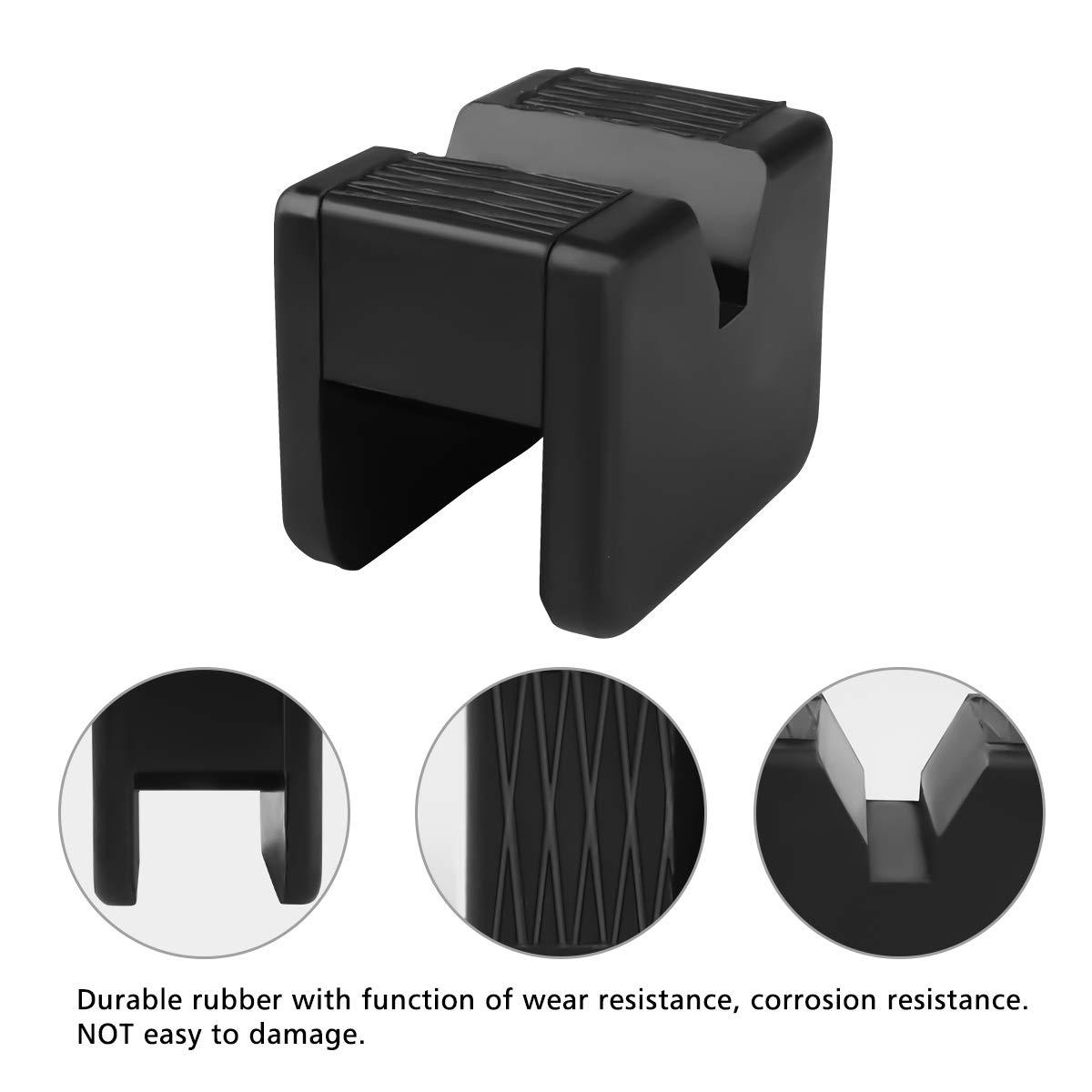 Confezione da 2 Tampone in Gomma per Cric Sollevatore Auto Ponte con Scanalatura Spessori per Cric Evitano Graffi Danni Resistente Universale Jack Pad