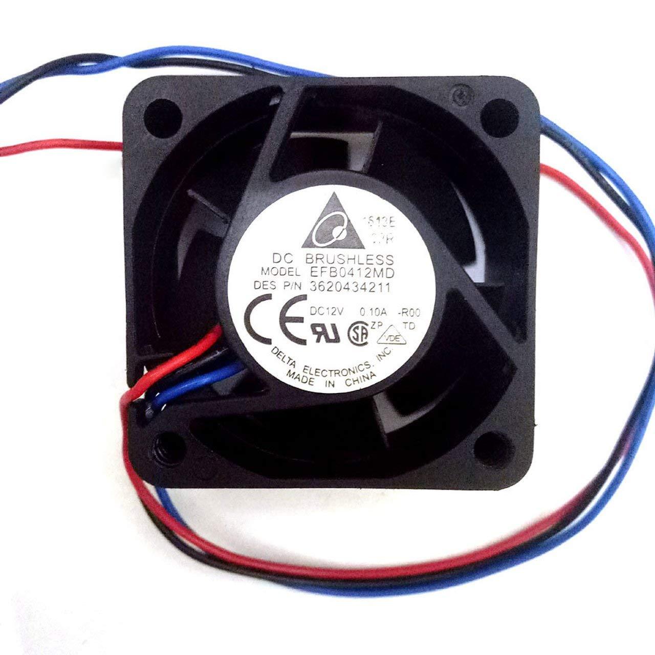 Jasnyfall 4020 EFB0412MD 12V 0.10A 4cm 7.17CFM 6300RPM Ventilateur de commutateur /à roulement /à billes /à longue dur/ée de vie et /à longue dur/ée de vie Gris