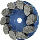 PFERD 83957 M-Brad Standard Density Composite Disc Brush, Silicon Carbide, 10'' Diameter, .040 Round Filament, 1340 Rpm, 80 Grit, Silicon Carbide, Coating, Cut,, Cutting Angle, Flute,