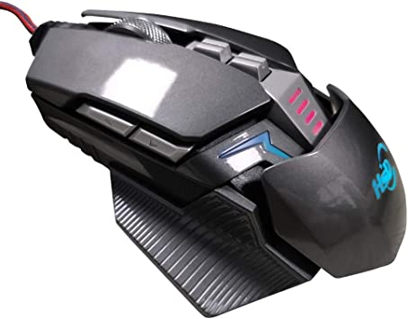 Show Time:Wired USB Gaming Mouse 8 Pieces RGB Light 4 Buttons Adjustable DPI Levels 8 Programmable Button Black A