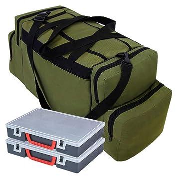 023 2 Kunststoff-Boxen Angelboxen Ger/ätetasche K/ödertasche Tasche f/ür Angelk/öder Ferocity Specialist Angeltasche f/ür Zubeh/ör mit inkl