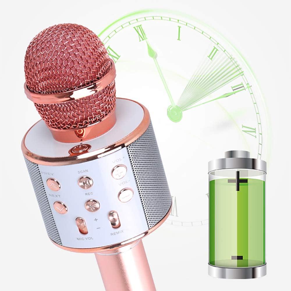 Blue Drahtloses Mikrofon,Tragbares Drahtloses Integriertes Karaoke-Mikrofon f/ür die Musikwiedergabe Audio Lautsprecher Player Party Travel Outdoor