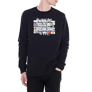 9ba734891315 WESC - Sweatshirt - Miles More Love - Black  Amazon.co.uk  Clothing