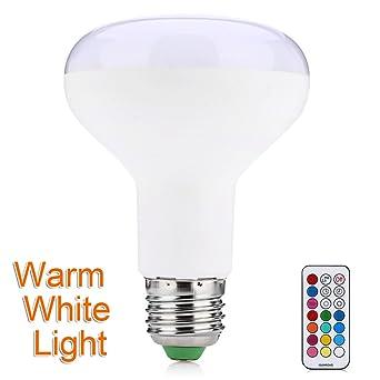 Caliente E27 Universal 10 W 800LM RGB LED cambio de color de la bombilla lámpara regulable luz redondo farol con ...