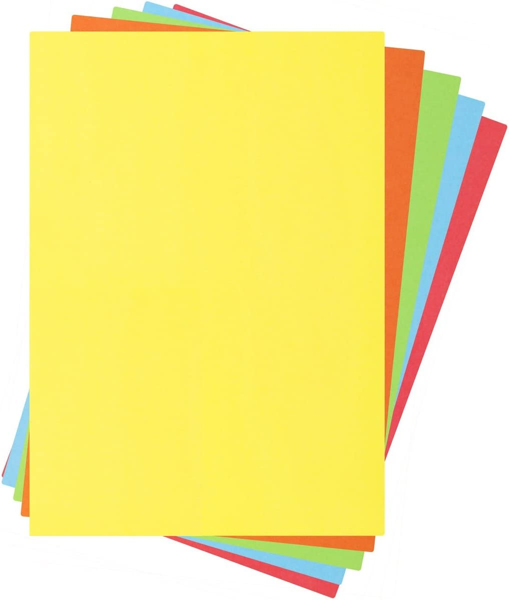 A4 Coloured Arts /& Craft Sheets 80gsm Paper OR 160gsm Card Bright Neon Colours