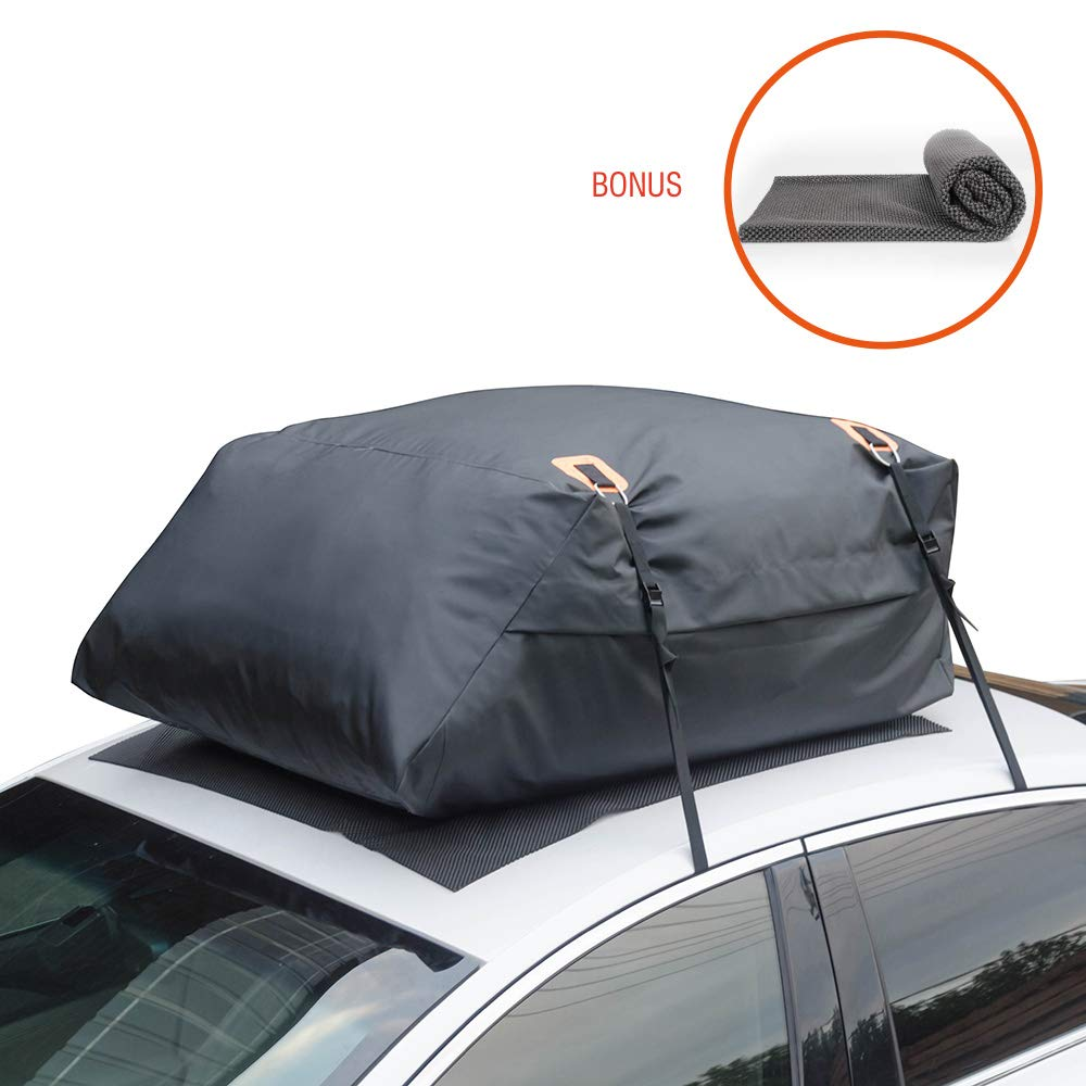 MARKSIGN 100/% Waterproof Hitch Carrier Cargo Bag 58 x 19 x 23 6 Lashing Straps with Cam Buckles 15 Cu Ft Waterproof Zipper and Rain Flap