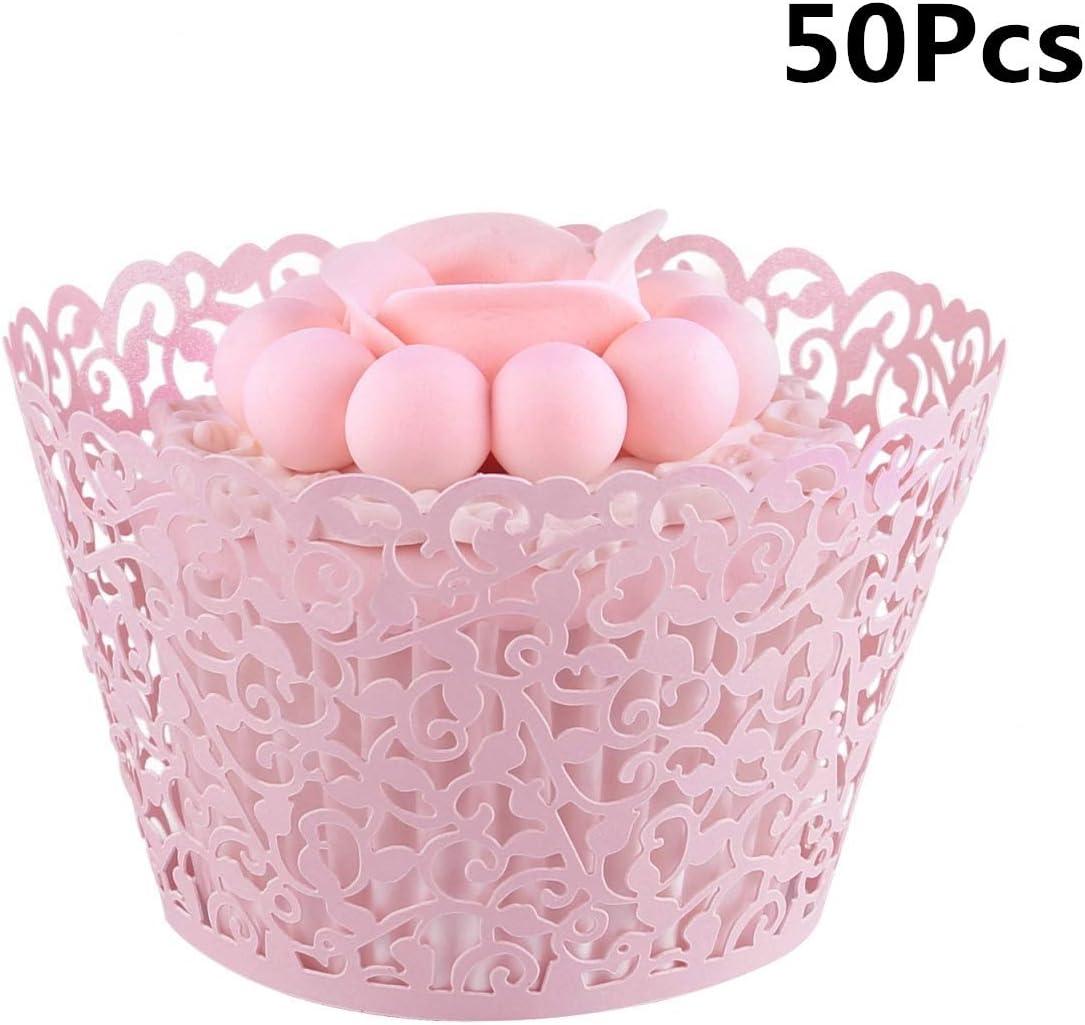 Longsing Hochzeit Cupcakes Cupcake Wrapper Cupcake Dekorationen fur Hochzeit Birthday Party Supplies 50 Stuck