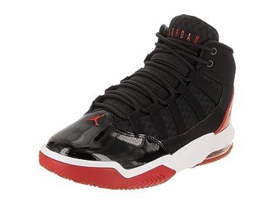 timeless design 2b9e5 8d338 Jordan Nike Kids Max Aura (GS) Black Black Gym Red White Basketball Shoe
