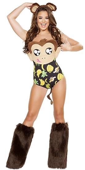 fbcea2d5a99 Musotica Go Bananas Girl Halloween Costume - Brown - Small Medium
