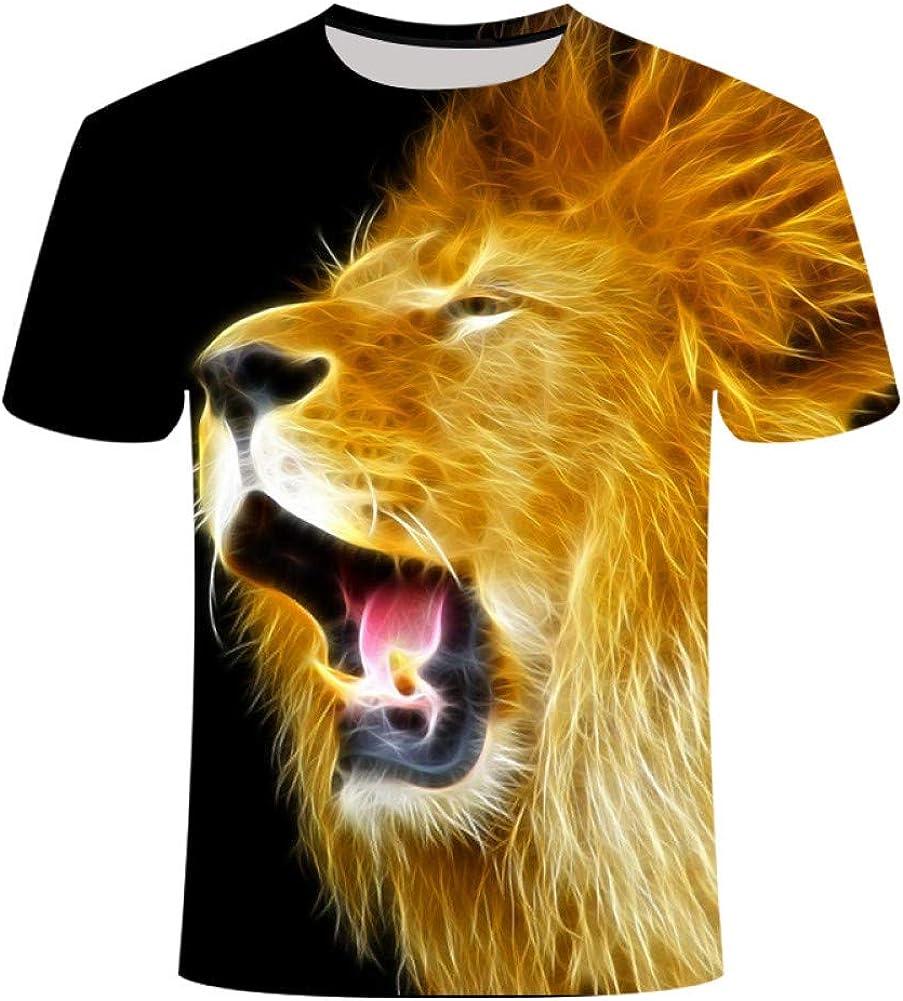 Camiseta 3D Moda Hombre/Mujer León/Tigre Estampado ...