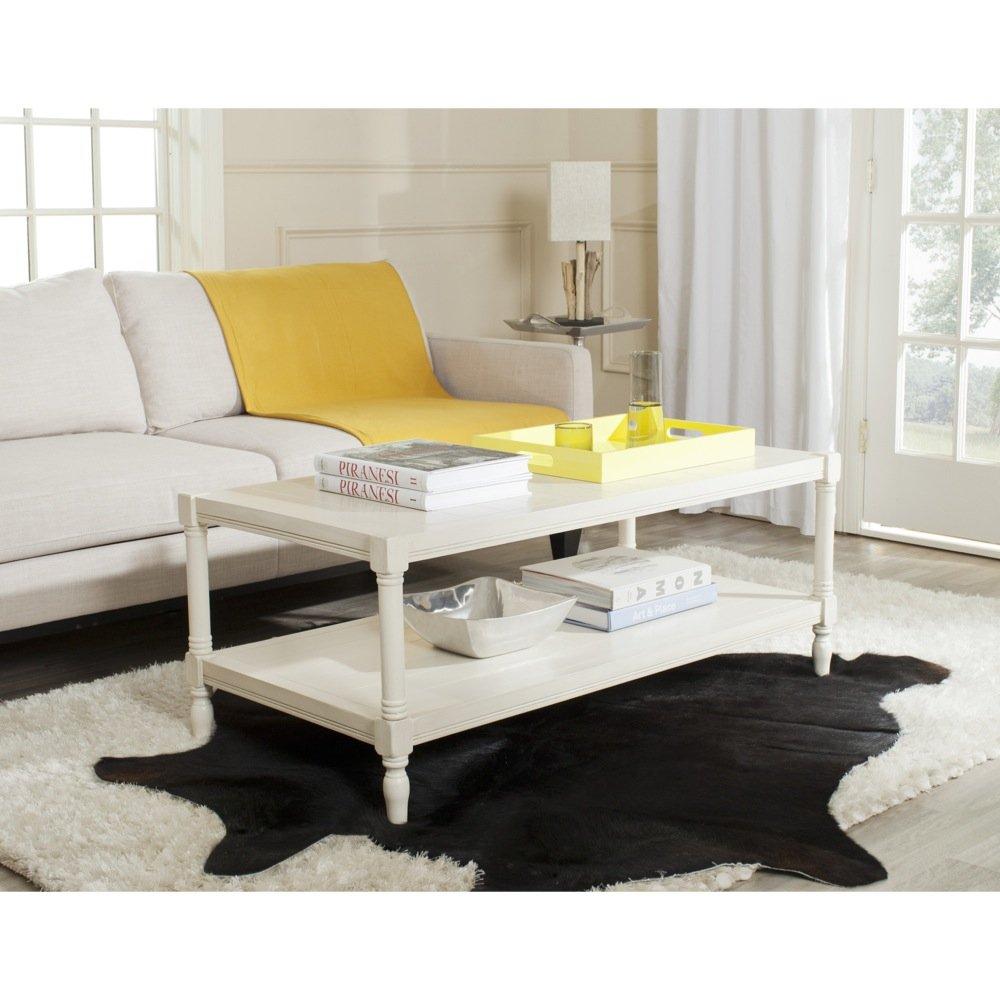 Amazon.com: Safavieh American Home Collection Bela White Coffee Table:  Kitchen U0026 Dining
