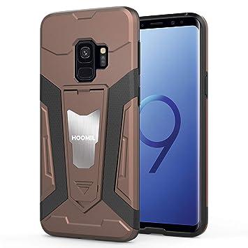 HOOMIL Funda para Samsung Galaxy S9, Silicona Resistente Carcasa para Samsung Galaxy S9 Smartphone - Marrón (H3316)