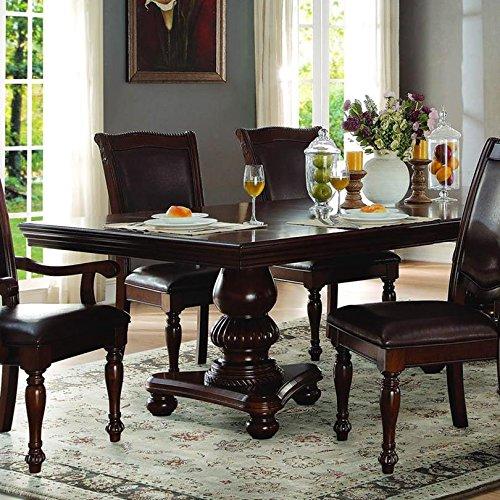 Lordsburg Double Pedestal Dining Table in Dark Brown