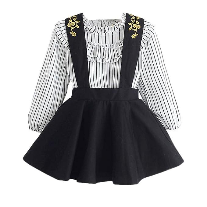 Conjuntos para Niñas Otoño Invierno 2018 Moda PAOLIAN Blusas y Camisa Manga Largas + Falda de
