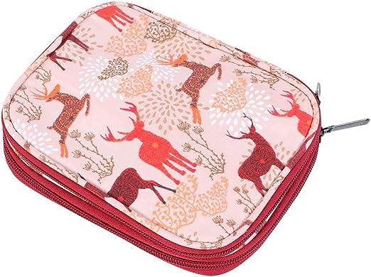 Delaman Bolsa de Almacenamiento para Hacer Punto Hilo Portátil Ganchillo Ganchillo Aguja Herramienta de Coser Accesorios Estuche 1PC(Short Crochet Bag): Amazon.es: Hogar
