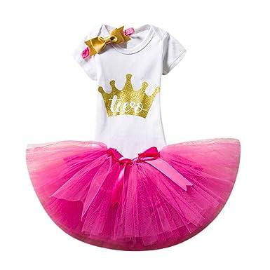Baby Girls Birthday Skirt SetsJchenTM Princess Romper Skirts Headbands Summer