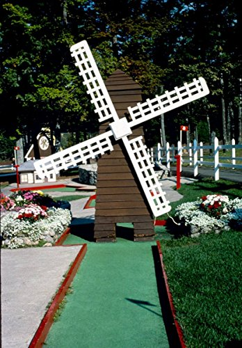 Roadside America Photo Collection | 1984 Windmill, Funspot Mini Golf, Route 3, Weirs Beach, New Hampshire | Photographer: John Margolies | Historic Photographic Print 24in x 30in ()