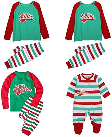 Elevin TM Fashion Infant Baby Boys Girls Christmas Suit Romper+Hat Outfits Clothes