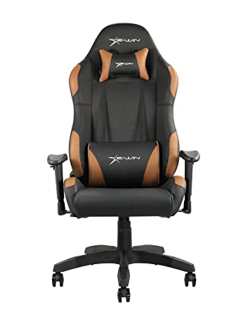 Exceptionnel Ewin Chair Calling Series CLD Ergonomic Office Computer Gaming Chair With  Pillows (Black/Brown